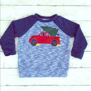 Old Navy Red Truck, Dog & Christmas Tree Sweater